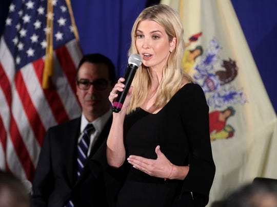 Ivanka Trump speaks during a town hall meeting at the