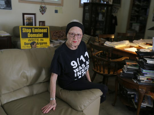Dorothy Argyros of Neptune, who has been a frequent gadfly on the township committee since 1963 when she was a young anti-war protester and is still a lawyer, talks about her life at her home in Neptune, NJ Fruday, November 10, 2017.