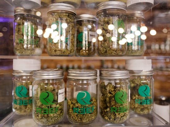 The Reef, a medical marijuana dispensary in Detroit, offers about 60 different strains in September 2017.