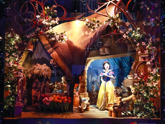 saks fifth avenue and disney unveil once upon a holiday 2017 holiday windows