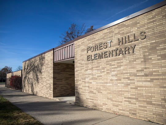 The Forest Hills Elementary building now houses the Anderson Community Schools' administrative offices in Anderson, Ind., seen on Monday, Nov. 20, 2017.