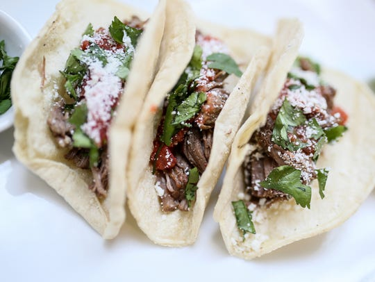 Beef barbacoa tacos made with the Instant Pot at the