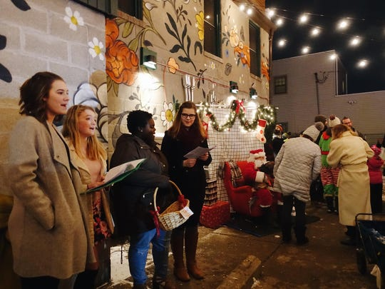 Caroling and a tree-lighting ceremony will conclude