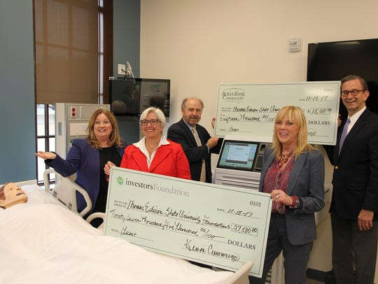 Pictured at the check presentation at Thomas Edison