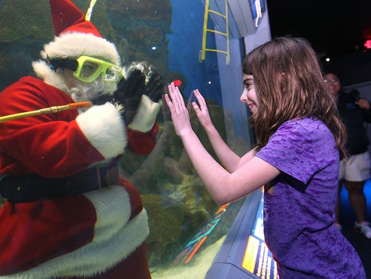 Scuba Santa will be appearing twice daily at the Texas