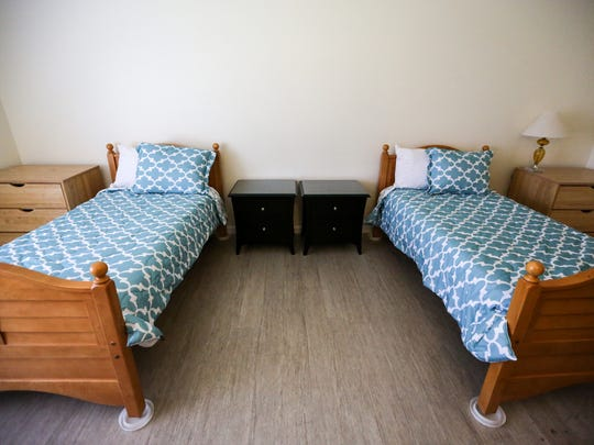 One of the bedrooms at Sanctum House. The house can sleep as many as 16 women — two to a room — with a large kitchen, two sets of washers and dryers and plenty of common areas for socializing.