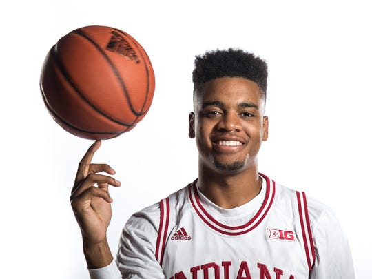 Indiana Hoosiers Juwan Morgan (13) at IU on Tuesday, Sept. 28, 2017. Photo taken during Indiana University men's basketball media day.