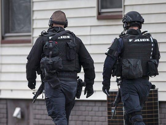 Members of SWAT, Indianapolis Metropolitan Police Department