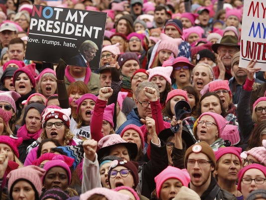 Gigantic crowd marches in Washington for women's rights