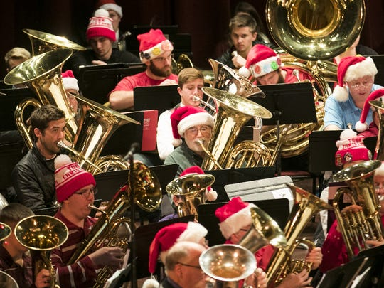 Salem Tuba Holiday: The annual tradition features musicians from all over the Northwest playing conical bore instruments — baritone horns, euphoniums, tubas and Sousaphones — playing arrangements of popular Christmas carols and holiday songs, noon Dec. 24, Elsinore Theatre, 170 High St. SE. $10. 503-375-3574 or www.elsinoretheatre.com.