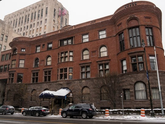 The Detroit Club is on Cass Avenue in downtown Detroit.