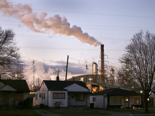 The Marathon Refinery operates less than a half-mile from a residential neighborhood, where residents frequently complain of odors, noise and soot.
