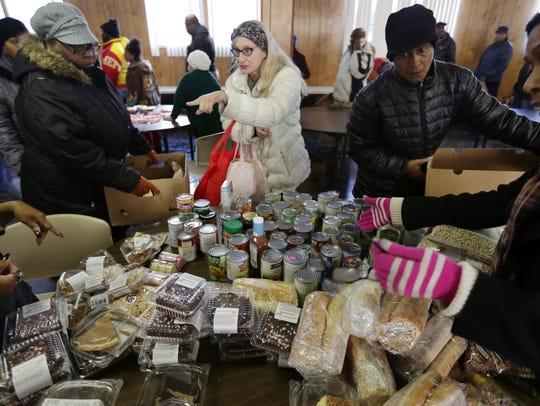 December 2017: People choose groceries at a weekly