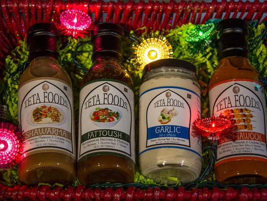 Marinades from Teta Foods.  Mandi Wright/ Detroit Free Press.