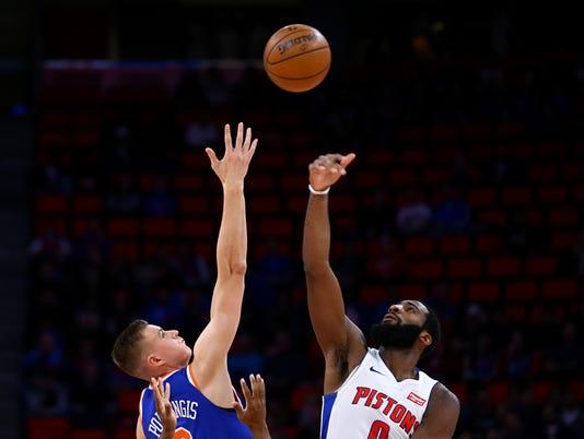 NBA: New York Knicks at Detroit Pistons