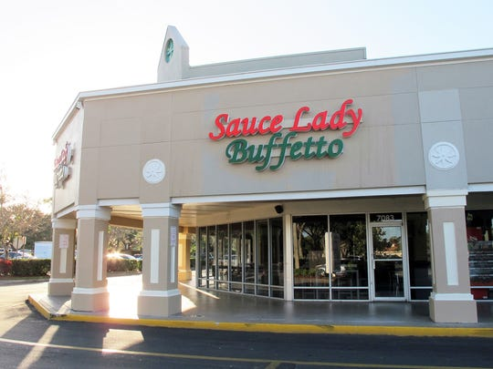 Sauce Lady Buffetto closed in December 2018 in Berkshire Commons on the northwest corner of Radio Road and Santa Barbara Boulevard in East Naples.