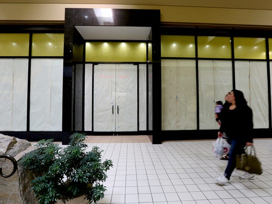 Construction took over Salem's Lancaster Mall, which