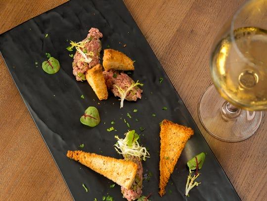Salmon tartare at Isa's French Bistro.