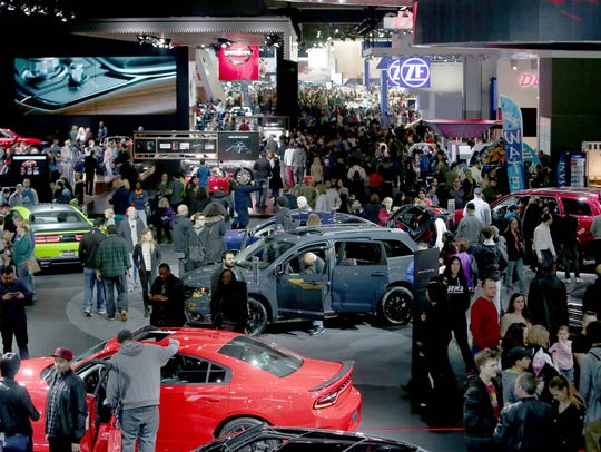 A Future Automotive Career Exposition is scheduled for Jan. 20-21 at the Detroit auto show. File art of the final public day of the 2017 North American International Auto Show at Cobo Center in Detroit in 2017.