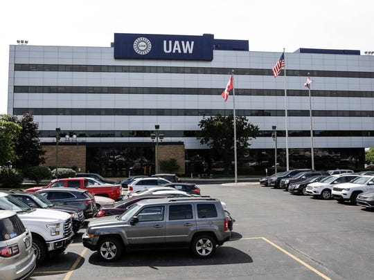 UAW headquarters, also known as Solidarity House, on Thursday, July 20, 2017 in Detroit.
