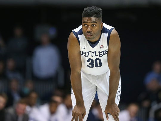 Butler Bulldogs forward Kelan Martin (30) waits as action moves up court during the second half between the Butler Bulldogs and Seton Hall Pirates at Hinkle Fieldhouse, Indianapolis, Saturday, Jan. 6, 2018. Seton Hall won, 90-87.