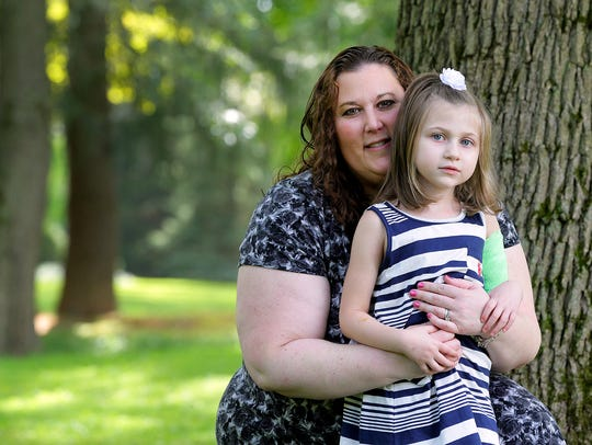Robyn Reznick of Colts Neck and her 5-year-old daughter,
