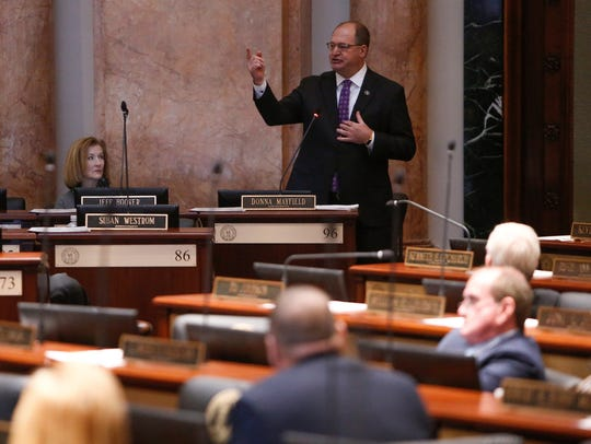 Speaker of the House Rep. Jeff Hoover, R-Russell, resigns