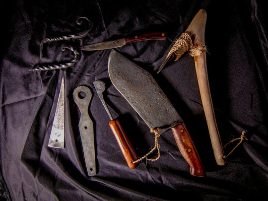 Lizamas Forge located in Chamarro Village creates various hand forged Chamorro tools, including,  knives, j-hooks, adzes, spears, farming tools, machetes, graters, weaving tools, and betel nut scissors.