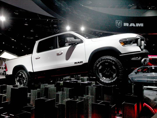 The 2019 Ram 1500 is seen on the floor during the North