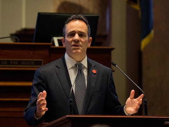 Kentucky Gov. Matt Bevin delivers the 2018 State of the Commonwealth Address.