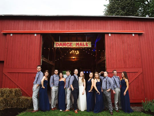 Barn wedding and reception.