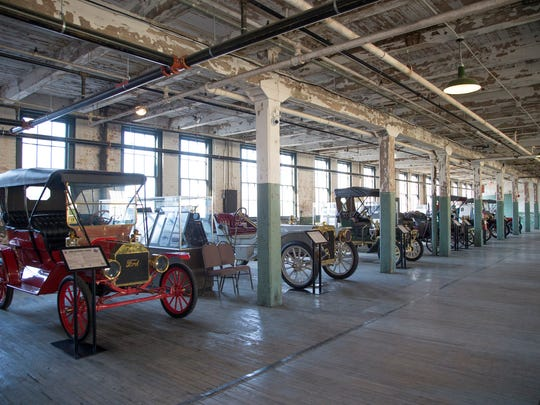 This 1909 Ford Model T Touring, left, is on display at The Ford Piquette Avenue Plant in Detroit that is hosting the Larry D. Porter Artifacts Trust collection of rare Ford models.