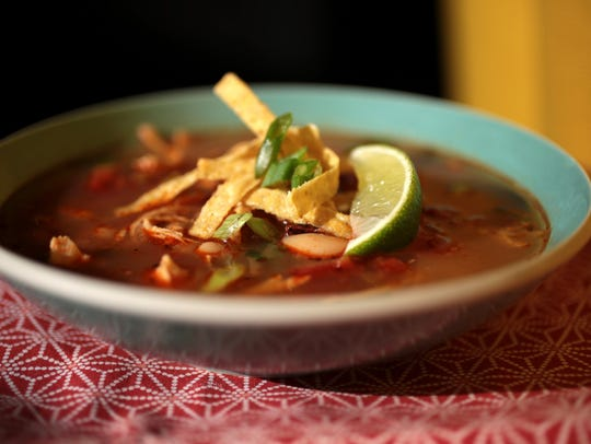 Slow cooker Tortilla soup.