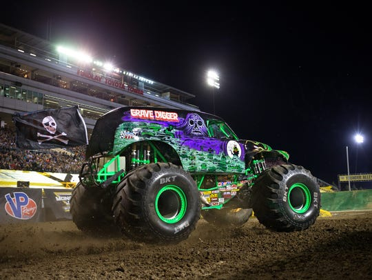 The formidable Grave Digger is headed for Ford Field.