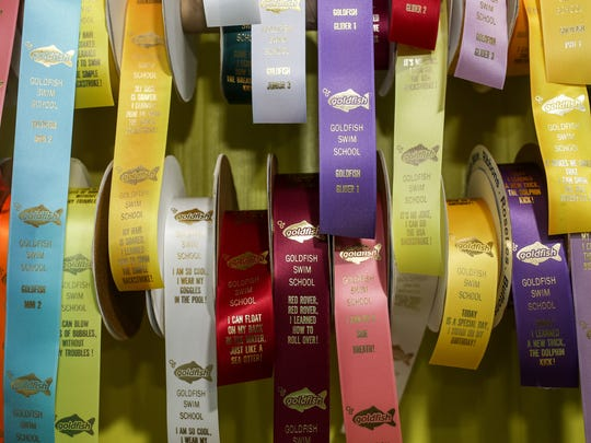 Ribbons for achieving diffrent levels of swimming are