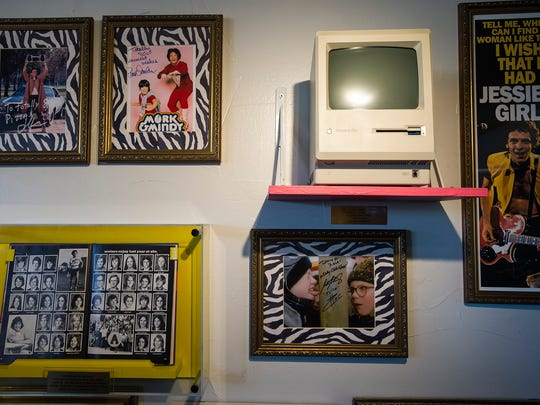 A Macintosh Plus home computer is displayed on Tuesday,