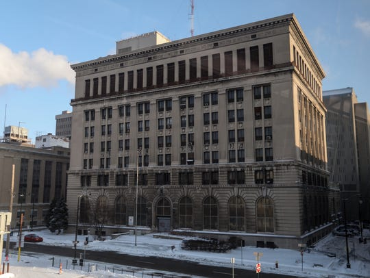 The former Detroit police headquarters at 1300 Beaubien.