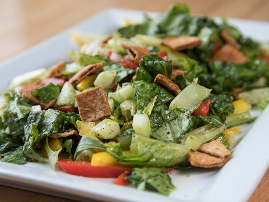 Fattoush salad, at Great Lakes Culinary Center in Southfield,