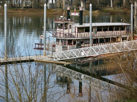 The Willamette Queen on Friday, Feb. 9, 2018. The sternwheeler has been in Salem for 20 years, and owners Richard and Barbara Chesbrough are contemplating retiring and selling the boat in the next few years. They were married on the bow just after they purchased the boat in 1998.