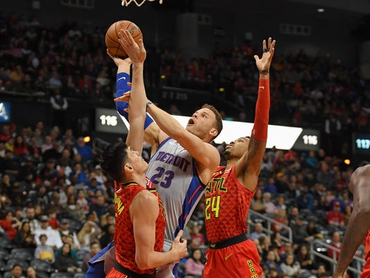 NBA: Detroit Pistons at Atlanta Hawks