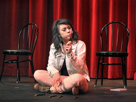"""Carson Meyer played the lead in """"Go Ask Alice"""" at Young Actors Theatre, while she was a senior at Herron High School."""