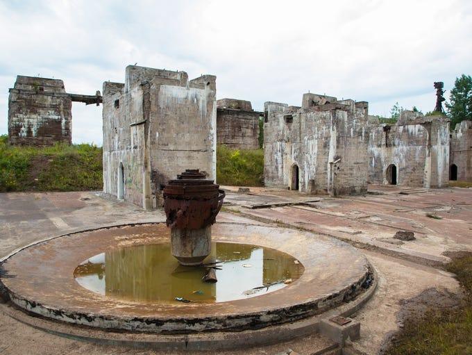 The ruins of the Ahmeek Stamp Mill in Tamarack City