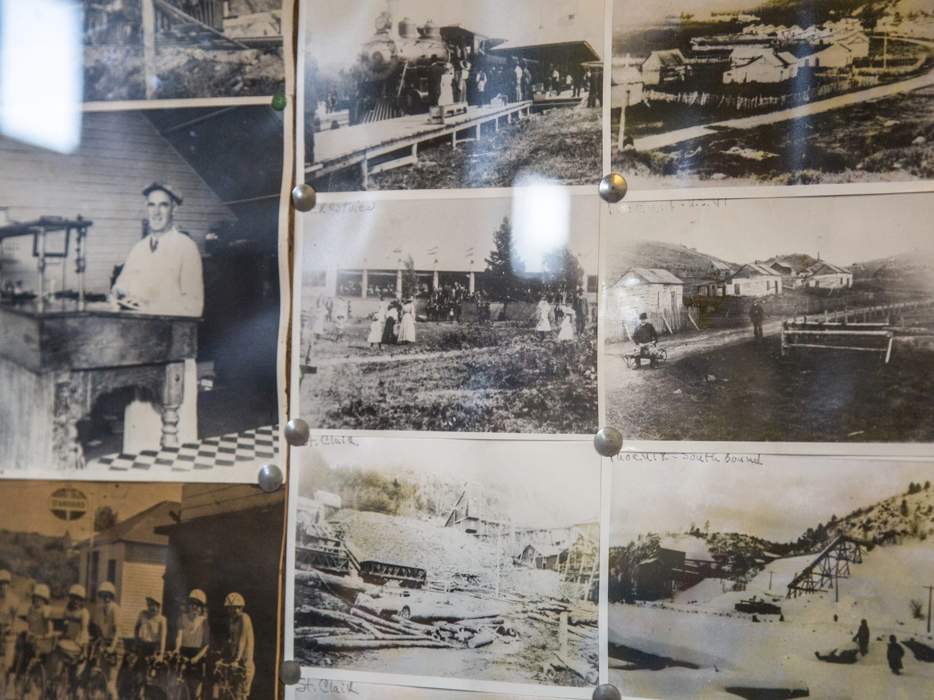 Historic photographs of the long-gone mining town of