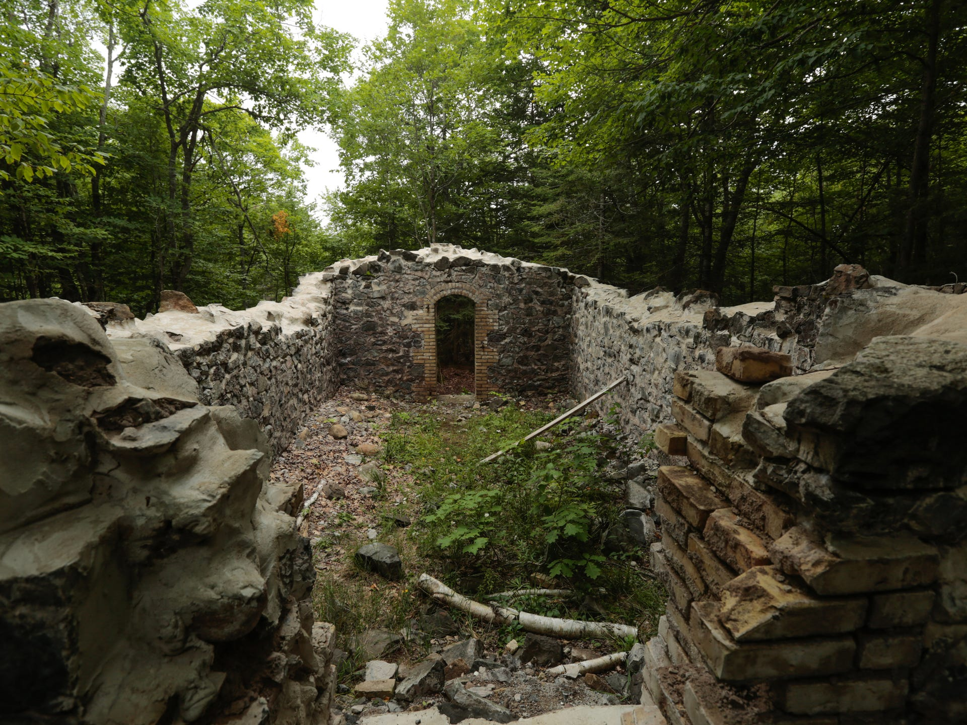 The remains of a Powder House, seen here on Aug. 20,
