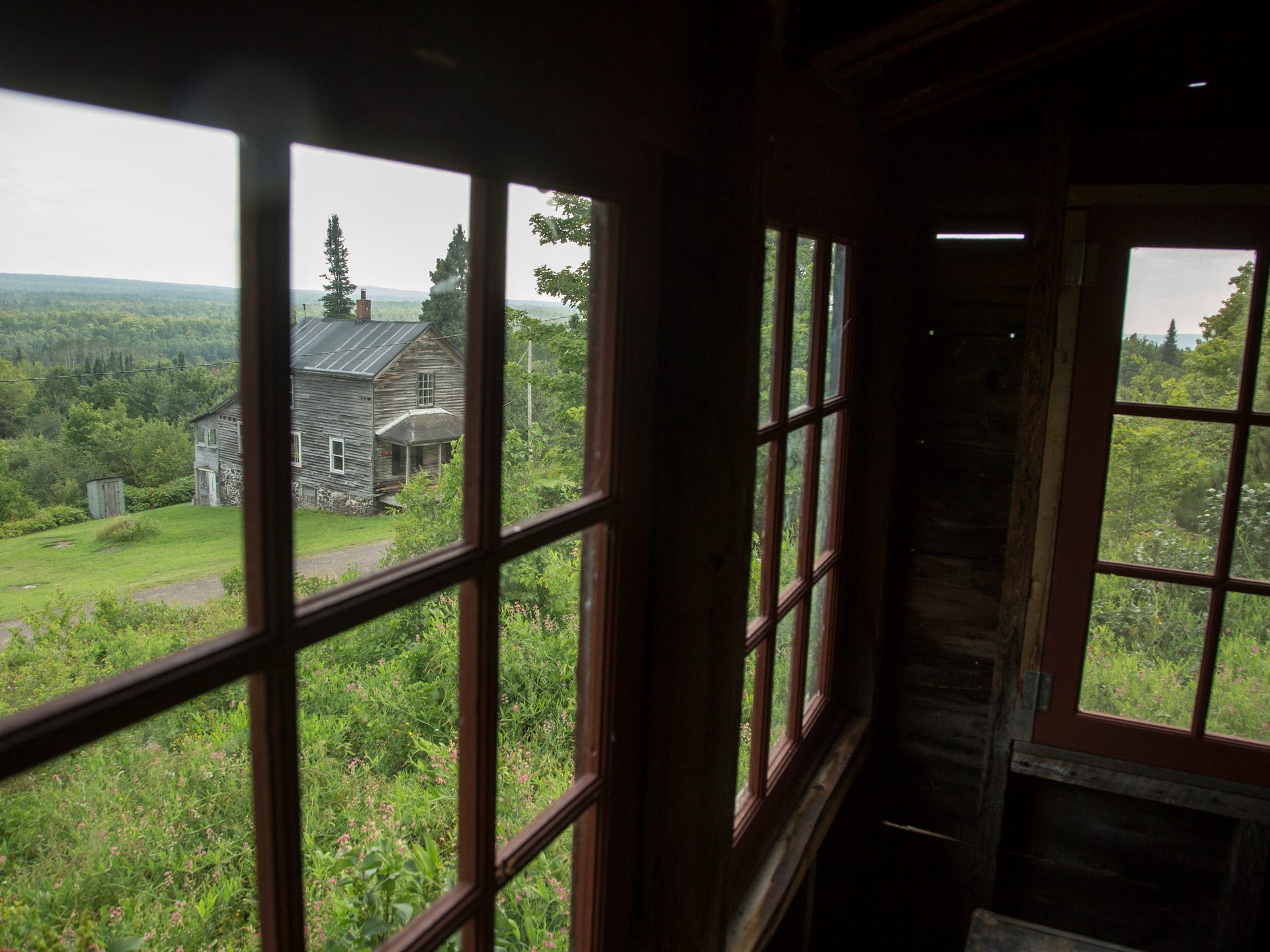 The view from an empty house in the town of Central