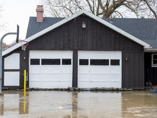 Flooding on Strawberry Lane in Port Huron Township, Feb. 22.