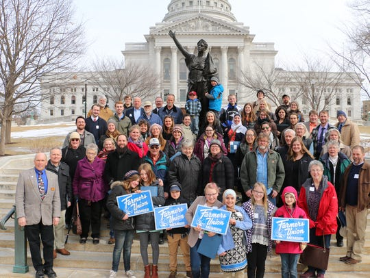 Sixty Wisconsin Farmers Union participants gathered in Madison on Feb. 21, 2018, for Farm and Rural Lobby Day where they spoke up on a number of issues impacting farms and rural communities.