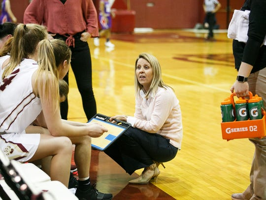 Willamette University coach Peg Swadener in a game
