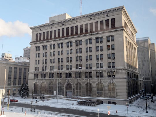 1300 Beaubien, the former headquarters for the Detroit Police Department, is photographed on Saturday, Dec. 30, 2017.