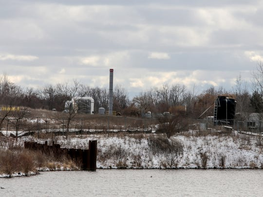 The former site of the Velsicol Chemical Corporations plant where the PBB disaster of the 1970s occurred is seen in St. Louis on Wednesday, March 7, 2018.